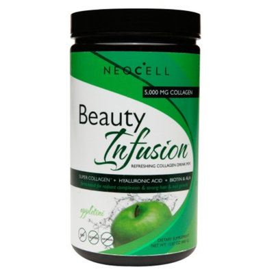 NeoCell Beauty Infusion Refreshing Collagen Drink Mix, Appletini, 15.87 oz