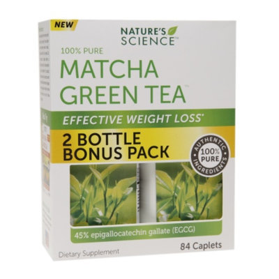 Nature's Science Matcha Green Tea Effective Weight Loss, Caplets