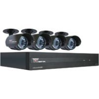 Night Owl Security Products 4-Channel STA 500GB DVR with 4 Night Vision Cameras and Smartphone Viewing