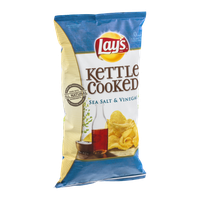 Lay's Kettle Cooked Sea Salt & Vinegar Flavored Potato Chips