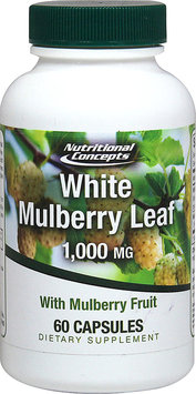 Nutritional Concepts White Mulberry Leaf 1000 mg - 60 Capsules
