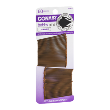 Conair Bobby Pins Brown - 60 CT