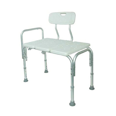 Duro-Med Deluxe Transfer Bench with Back and Hand Rail