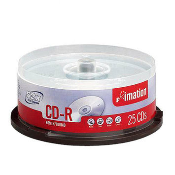 Imation 17333 CD-R Branded Surface 80 Min/700MB 52X 25/PK