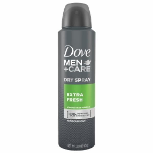 Dove Men+Care Dry Spray Antiperspirant, Extra Fresh, 3.8 oz