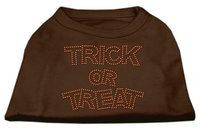 Ahi Trick or Treat Rhinestone Shirts Brown Med (12)