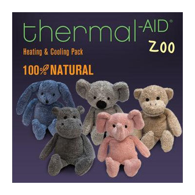 Thermal-Aid Zoo Animals Elephant 100% Natural Heating and Cooling Pack for kids