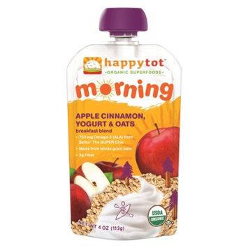 Happy Tot Organic Food Pouch - Apple Cinnamon,Yogurt, and Oats 4oz