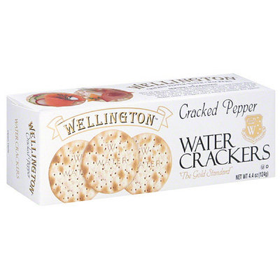 Wellington Cracked Pepper Water Crackers, 4.4 oz, (Pack of 12)