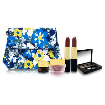 Estée Lauder Blue and White Floral Travel Set