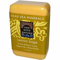 One With Nature Dead Sea Mineral Lemon Verbena Soap 7 oz