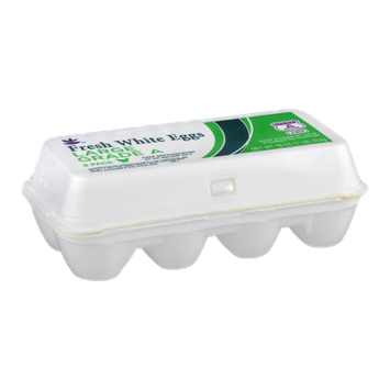 Ahold Fresh White Eggs Large Grade A - 8 CT