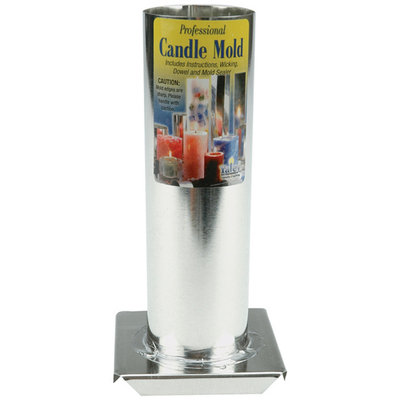 Yaley Professional Metal Candle Mold - Round - 2x6.5
