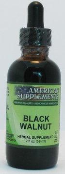 Black Walnut No Chinese Ingredients American Supplements 2 oz Liquid