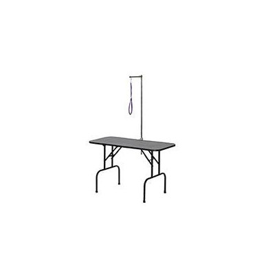midwest pets Midwest Pets G4824A Black Electro Coat Plywood 48Inch x 24Inch Grooming Table with Arm Dog Grooming Table G4824A