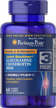 Puritan's Pride 2 Units of Double Strength Glucosamine, Chondroitin & MSM Joint Soother-60-Caplets