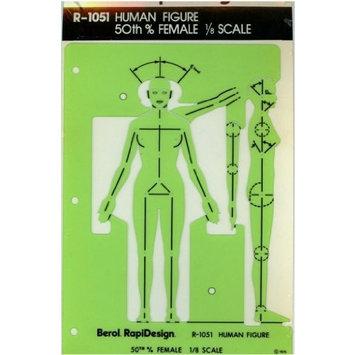 Berol Rapidesign Template - Female Figure 1/4