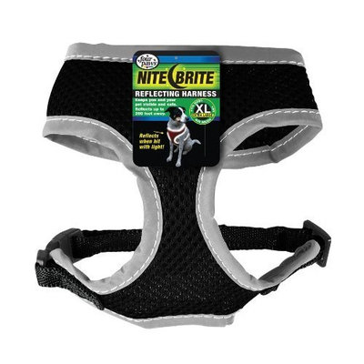 Four Paws Nite Brite Extra Large Black Safety Comfort Dog Harness