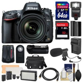 Nikon D610 Digital SLR Camera with 28-300mm VR AF-S Zoom Lens, Shoulder Bag & 32GB & 64GB Card + Case + Flash + Battery/Charger + Grip + GPS + Microphone & Video Light Kit