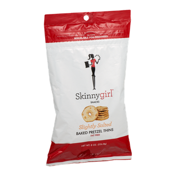 Skinnygirl Snacks Baked Pretzel Thins Slightly Salted
