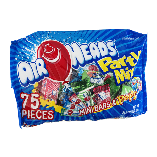 AirHeads Mini Bars & Pops Party Mix - 75 CT