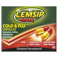 Lemsip Max Cold & Flu Capsules x 12