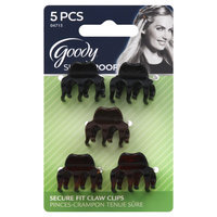 Goody Products Inc. Slide Proof Mini Claw Clips w/Teeth, 5 CT