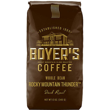 Boyer's Coffee Rocky Mountain Thunder Dark Roast Whole Bean Coffee, 12 oz