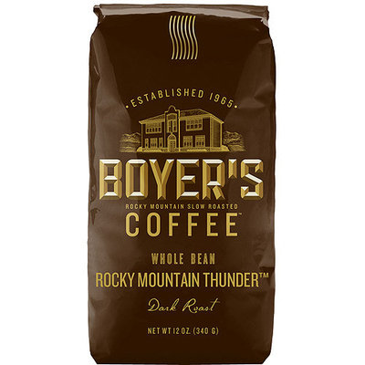 Boyer's Coffee Rocky Mountain Thunder Dark Roast Whole Bean Coffee, 12 oz