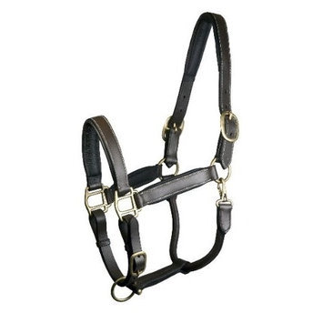 Gatsby Padded Leather Halter Fully Adjustable Oversize Brown