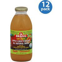 Bragg Organic Apple Cider Vinegar All Natural Drink, 16 fl oz, (Pack of 12)