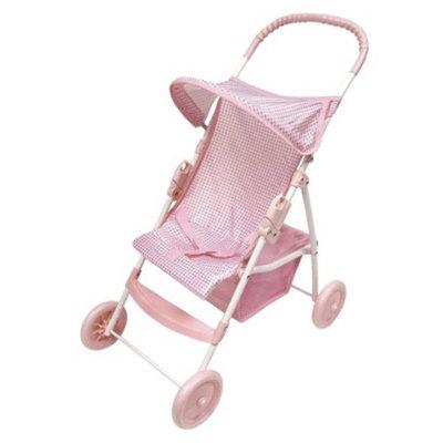 Badger Basket Pink and White Umbrella Stroller for 18