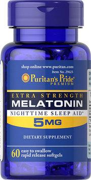 Puritan's Pride Extra Strength Melatonin 5 mg-60 Softgels
