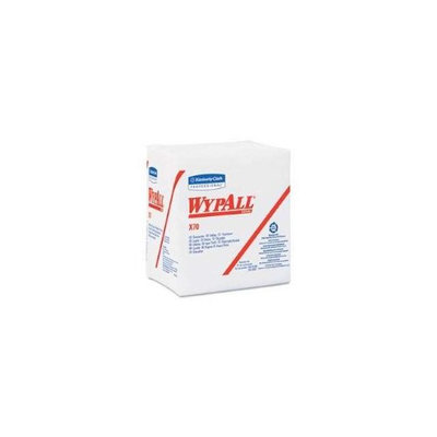 Kimberly-Clark 41200 WYPALL X70 Wipers .25-Fold 12.5 x 14.4 White 76-Pack 12-Carton