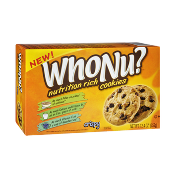 WhoNu? Nutrition Rich Crispy Chocolate Chip Cookies