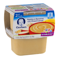 Gerber 2nd Foods Apples & Bananas with Mixed Cereal - 2 CT