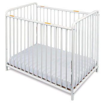 Foundations Worldwide Foundations Chelsea Euro Slatted Mini Crib in White