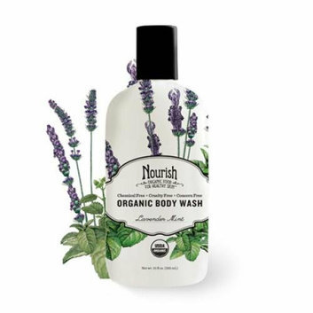 Nourish Organic Body Wash Lavender Mint 10 oz