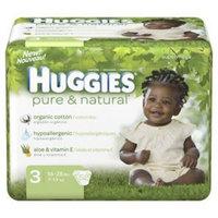 Huggies Pure & Natural Diapers, Size S3, Super Mega 52 ea