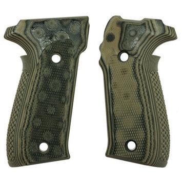 Hogue Sig P226 Grips - Checkered G-10 G-Mascus Green
