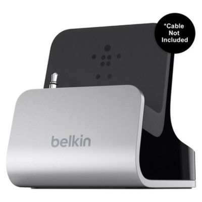 Belkin Charge and Sync Dock for iPhone/iPod - Silver/Black (F8J057tt)
