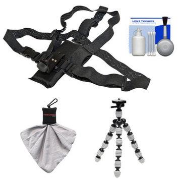 Intova Hiking Essentials Bundle for ContourROAM, ContourROAM 2 & Contour+ 2 Action Camcorders with Chest Mount + Flex Tripod + Accessory Kit
