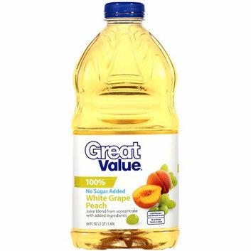 Great Value : 100% Grape Peach Juice