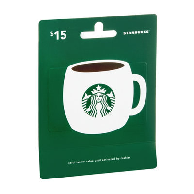 Starbucks $15 Gift Card