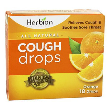 Herbion All Natural Cough Drops (Orange) - 18 Drops
