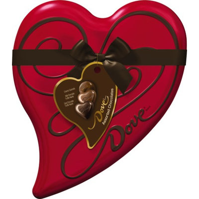 Dove Assorted Chocolates Premium Heart Tin 6.5 oz