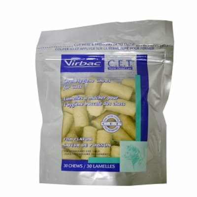 Virbac C.E.T. Oral Hygiene Chews for Cats, Fish, 30 ea