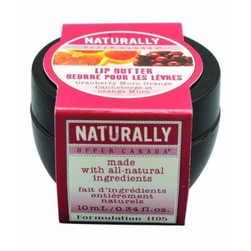 Upper Canada Naturally Lip Butter, Cranberry Moro Orange, 0.34 Fluid Ounce (Pack of 2)