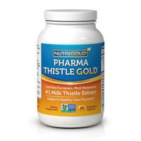 NutriGold Milk Thistle Extract - Pharma Thistle GOLD, 30 to 70:1 Extract with 80% Silymarin (#1 Pharmaceutical Grade Liver Support Supplement for Liver Detox and Cleanse) 90 Vegetarian Capsules