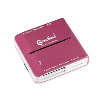 Connectland USB 3.0 All-in-One Memory Card Reader 6x Slot High Speed Pink